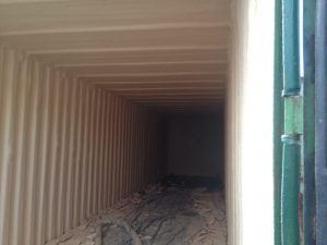 container spray foam insulation