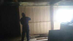 Garage Foam insulation