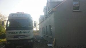 Myfaom insulation truck