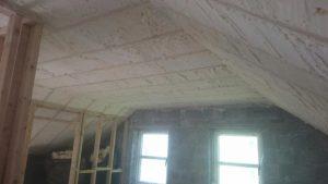 Attic conversion Spray foam Insulation
