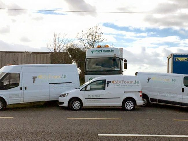 Myfoam Spray insulation fleet
