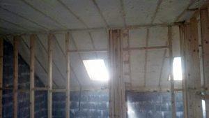 Air tight spray foam insulation